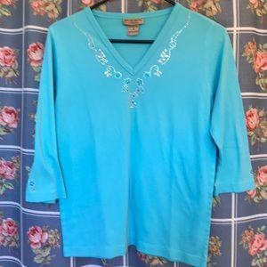 Isaacs Designs Casuals 3/4 sleeves beautiful top